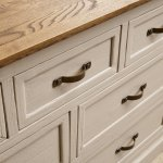 Seychelles Painted and Brushed Solid Oak 3+4 Chest of Drawers - Thumbnail 7