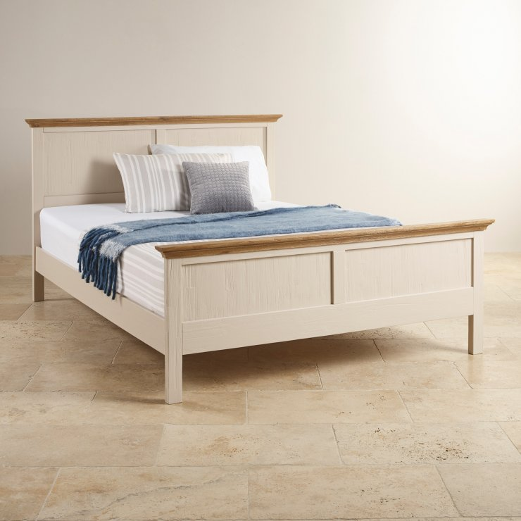 Seychelles Painted and Brushed Solid Oak 5ft King-Size Bed - Image 3