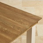 Seychelles Painted and Brushed Solid Oak 5ft x 3ft Extending Dining Table - Thumbnail 6