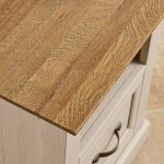 Seychelles Painted and Brushed Solid Oak Bedside Table - Thumbnail 6