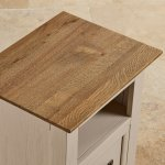 Seychelles Painted and Brushed Solid Oak Bedside Table - Thumbnail 7