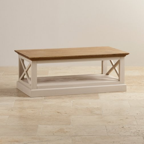 Seychelles Painted and Brushed Solid Oak Coffee Table