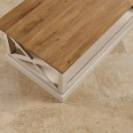 Seychelles Painted and Brushed Solid Oak Coffee Table - Thumbnail 7