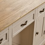 Seychelles Painted and Brushed Solid Oak Office Desk - Thumbnail 4