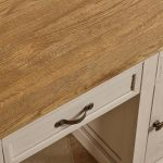Seychelles Painted and Brushed Solid Oak Office Desk - Thumbnail 6