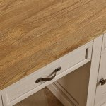 Seychelles Painted and Brushed Solid Oak Office Desk - Thumbnail 5