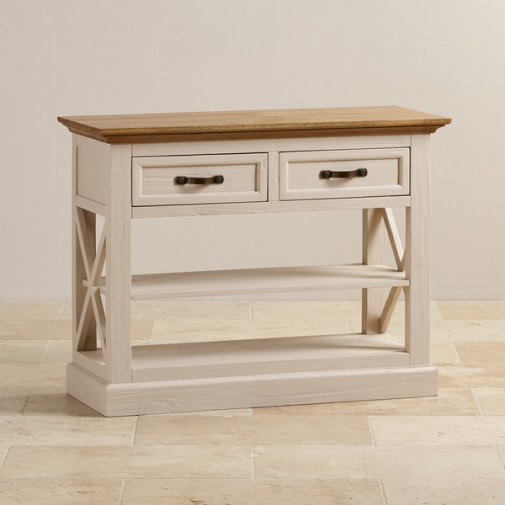 Seychelles Painted and Brushed Solid Oak Console Table