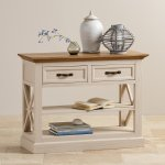 Seychelles Painted and Brushed Solid Oak Console Table - Thumbnail 4