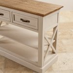 Seychelles Painted and Brushed Solid Oak Console Table - Thumbnail 6