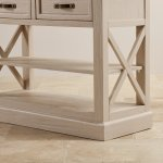 Seychelles Painted and Brushed Solid Oak Console Table - Thumbnail 7