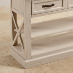 Seychelles Painted and Brushed Solid Oak Console Table - Thumbnail 8