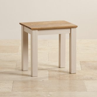 Seychelles Painted and Brushed Solid Oak Dressing Table Stool