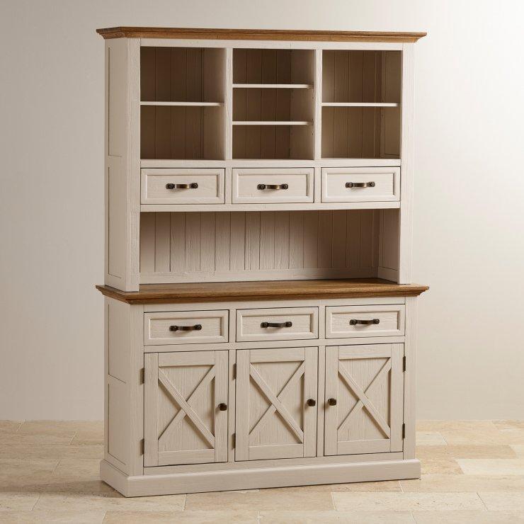 Seychelles Painted and Brushed Solid Oak Large Dresser - Image 6