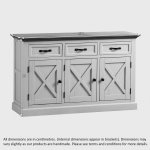 Seychelles Painted and Brushed Solid Oak Large Sideboard - Thumbnail 8