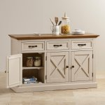 Seychelles Painted and Brushed Solid Oak Large Sideboard - Thumbnail 6
