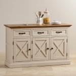 Seychelles Painted and Brushed Solid Oak Large Sideboard - Thumbnail 4