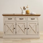 Seychelles Painted and Brushed Solid Oak Large Sideboard - Thumbnail 5