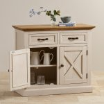 Seychelles Painted and Brushed Solid Oak Small Sideboard - Thumbnail 6