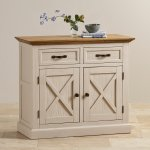Seychelles Painted and Brushed Solid Oak Small Sideboard - Thumbnail 3