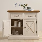 Seychelles Painted and Brushed Solid Oak Small Sideboard - Thumbnail 7