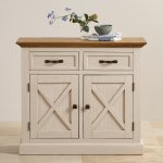 Seychelles Painted and Brushed Solid Oak Small Sideboard - Thumbnail 5