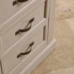Seychelles Painted and Brushed Solid Oak Tallboy - Thumbnail 8