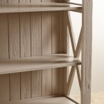 Seychelles Painted and Brushed Solid Oak Tall Bookcase - Thumbnail 5