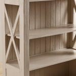 Seychelles Painted and Brushed Solid Oak Tall Bookcase - Thumbnail 6