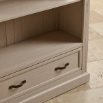 Seychelles Painted and Brushed Solid Oak Tall Bookcase - Thumbnail 8