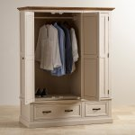 Seychelles Painted and Brushed Solid Oak Triple Wardrobe - Thumbnail 3