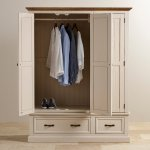 Seychelles Painted and Brushed Solid Oak Triple Wardrobe - Thumbnail 4