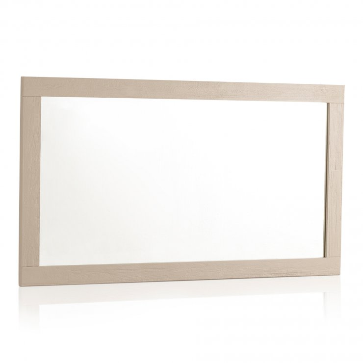 """Seychelles Painted and Brushed Solid Oak 43.5"""" X 22"""" Wall Mirror - Image 4"""
