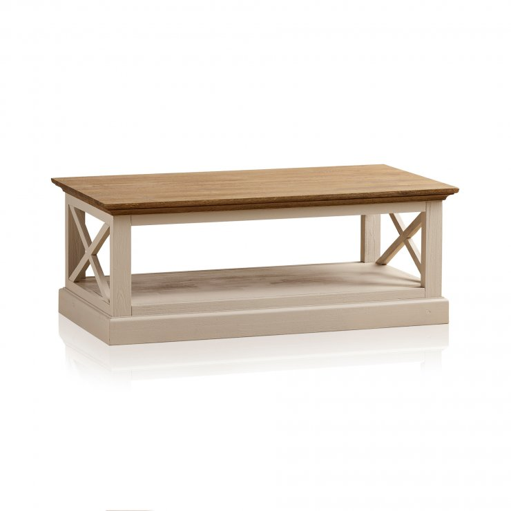 Seychelles Painted and Brushed Solid Oak Coffee Table - Image 8