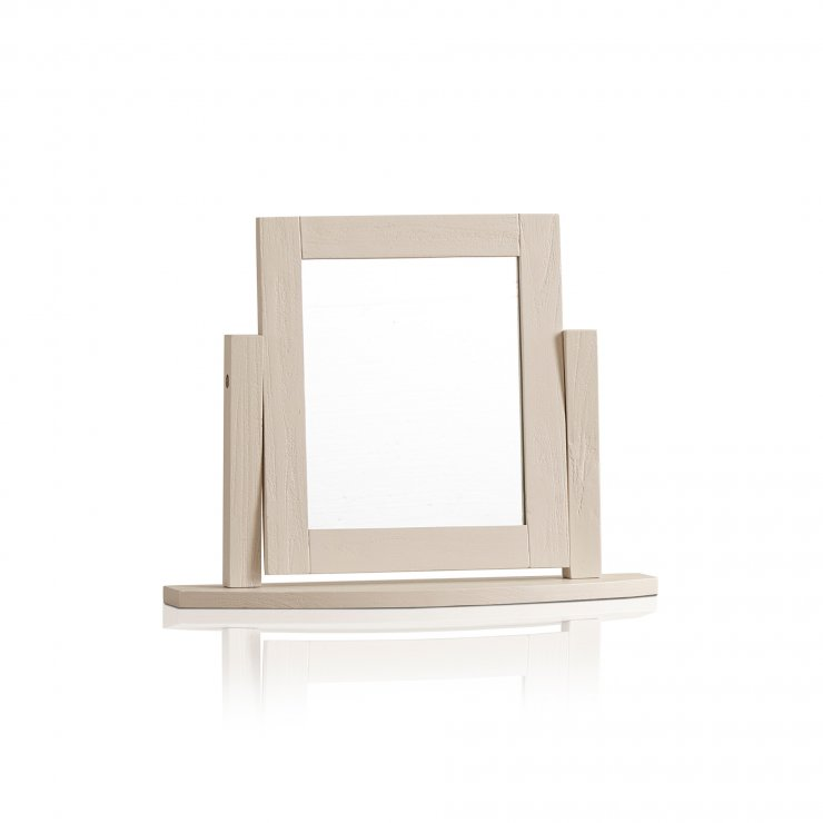 Seychelles Painted and Brushed Solid Oak Dressing Table Mirror - Image 3