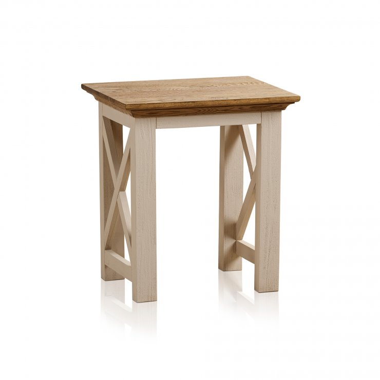 Seychelles Painted and Brushed Solid Oak Lamp Table - Image 6