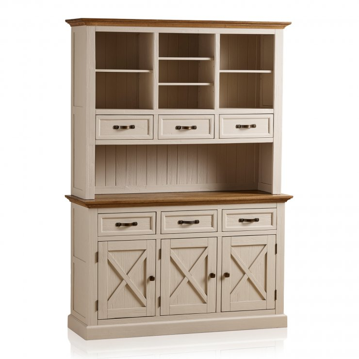 Seychelles Painted and Brushed Solid Oak Large Dresser - Image 7