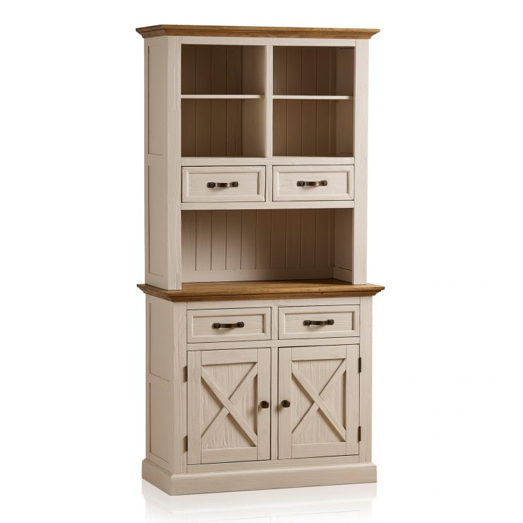 Seychelles Painted and Brushed Solid Oak Small Dresser - Image 8