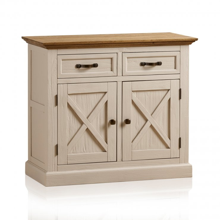 Seychelles Painted and Brushed Solid Oak Small Sideboard - Image 7