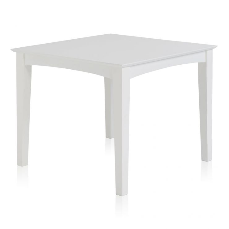 Shaker White Painted Hardwood 3ft Dining Table - Image 1