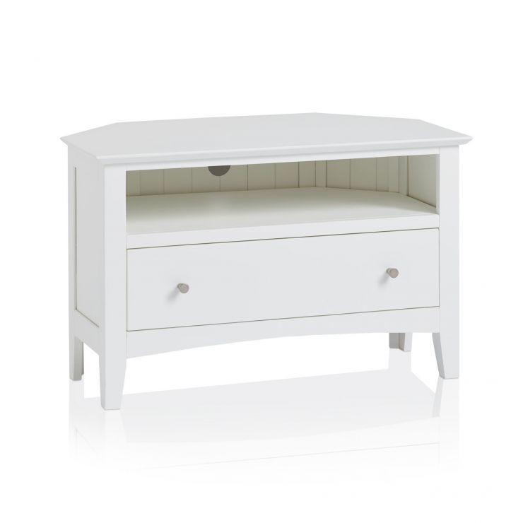 Shaker Painted Hardwood Corner TV Cabinet - Image 4
