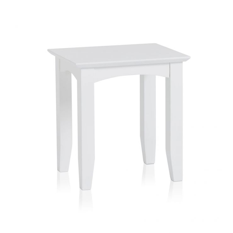 Shaker White Painted Hardwood Dressing Stool - Image 3