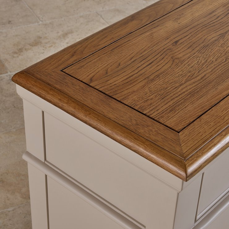 Shay Rustic Oak and Painted 3+2 Chest of Drawers