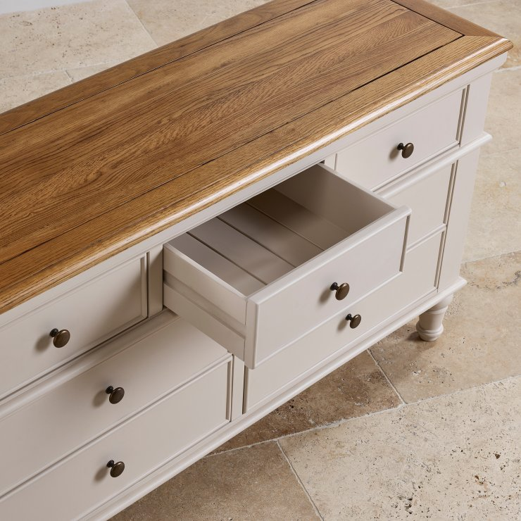 Shay Rustic Oak and Painted 3+4 Chest of Drawers