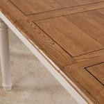 Shay Rustic Oak and Painted 5ft x 3ft Extending Dining Table - Thumbnail 6