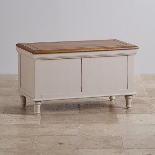 Shay Rustic Oak and Painted Blanket Box