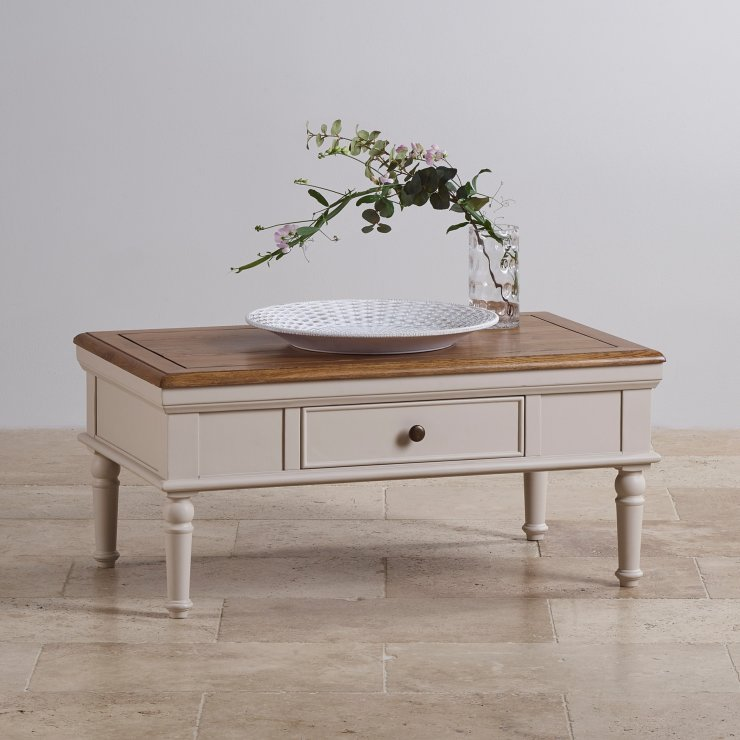 Shay Rustic Oak and Painted Coffee Table