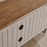 Shay Rustic Oak and Painted Corner TV Cabinet - Thumbnail 5