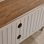 Shay Rustic Oak and Painted Corner TV Cabinet - Thumbnail 6