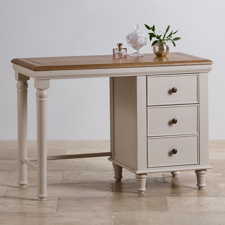Shay Rustic Oak and Painted Dressing Table