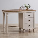 Shay Rustic Oak and Painted Dressing Table - Thumbnail 2